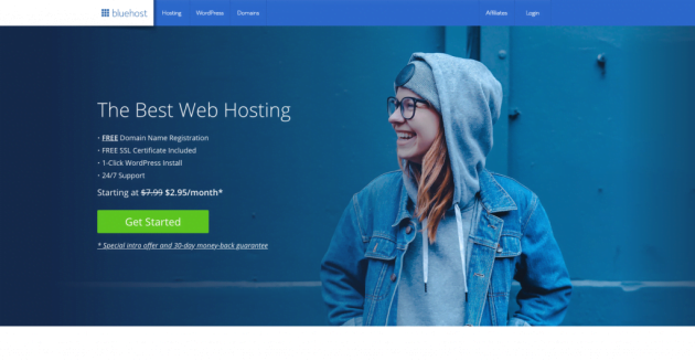Bluehost review page pic