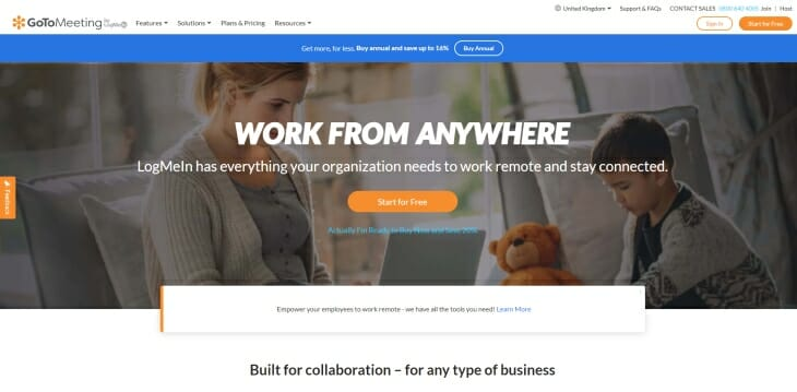 GoToMeeting review homepage