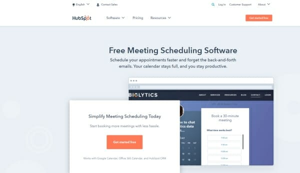 Hubspot meetings review page pic