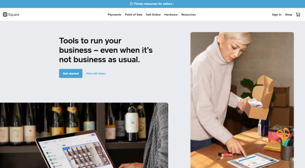 Square review homepage