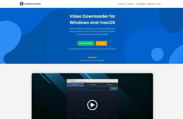 SnapDownloader review homepage
