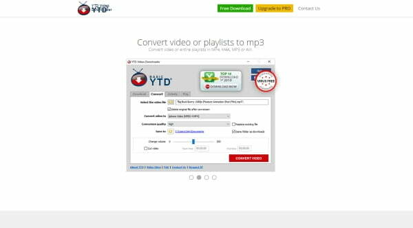 YTD Video Downloader review homepage